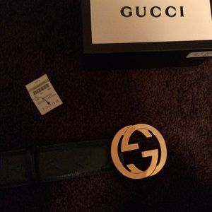 Accessories - Gucci Guccissima Belt Interlocking G buckle